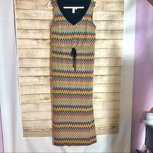 Emma and Michelle maxi dress multi color size L